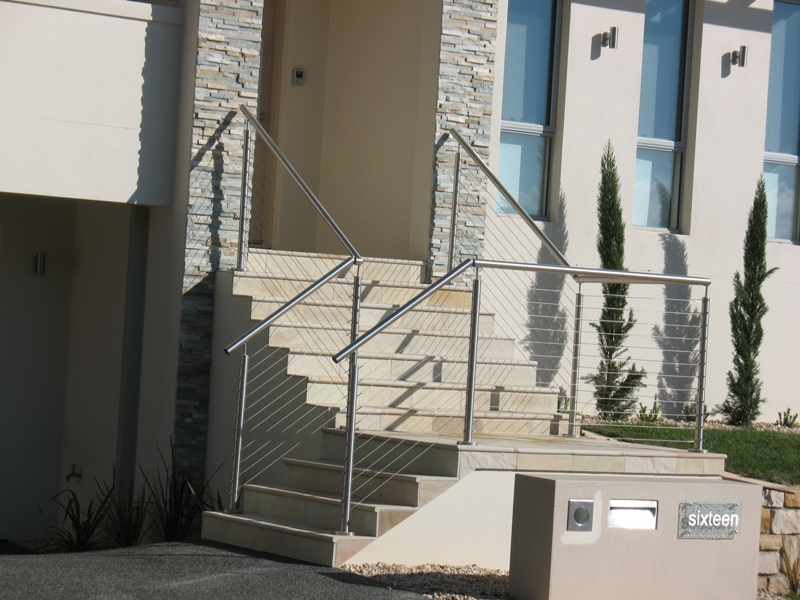Timber Open Rise Staircase With Glass Balustrade Flight